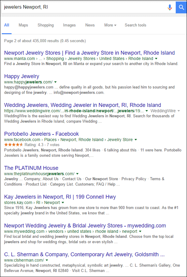 Happy Jewelers FridayFlopFix Website Review 1512-jewelers-newport-ri-serp-8