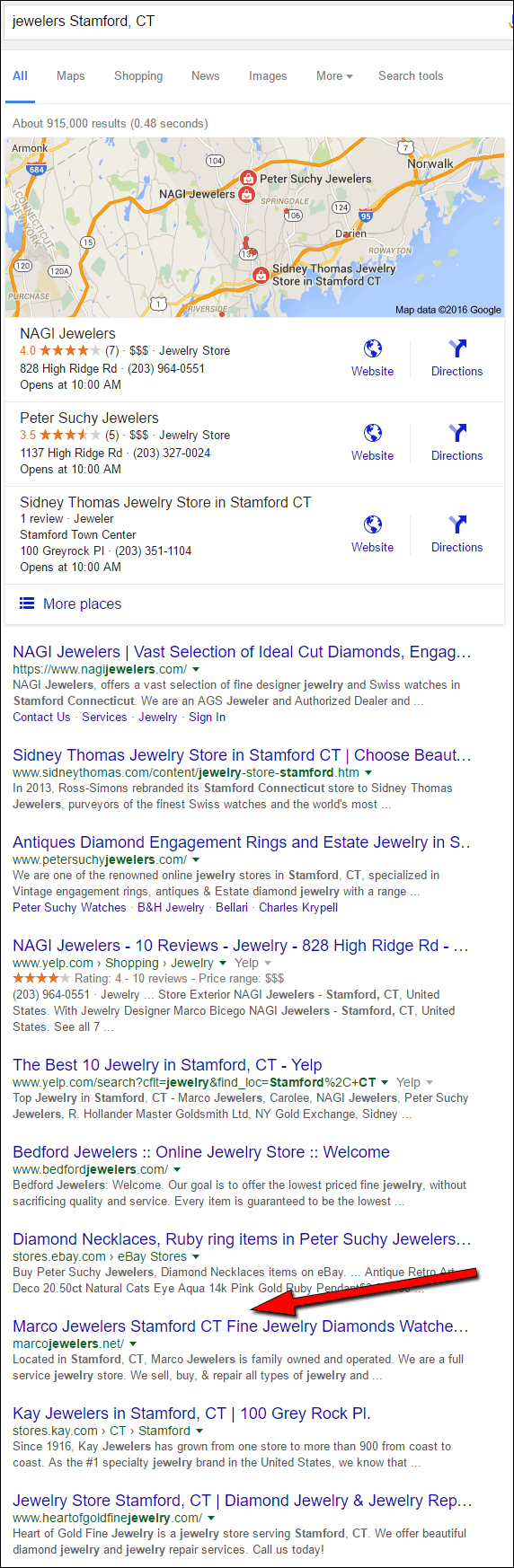 Marco Jewelers FridayFlopFix Website Review 1513-jewelers-stamford-ct-serp-17