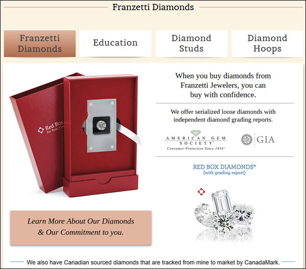 Franzetti Jewelers Website Re-Review 1531-diamonds-page-47