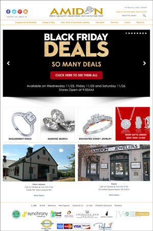 Amidon Jewelers Black Friday Email & Website Review 1532-amidon-desktop-home-75