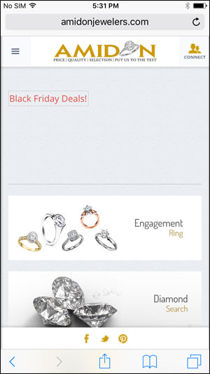 Amidon Jewelers Black Friday Email & Website Review 1532-amidon-mobile-home-73