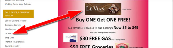 Amidon Jewelers Black Friday Email & Website Review 1532-levian-link-33