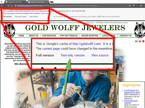 Gold Wolff Jewelers Website Review 1549-cached-view-89