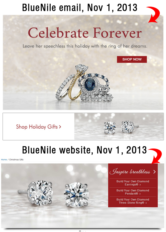 Holiday Season 2013 Email Marketing Review 1977-864-blue-nile-email