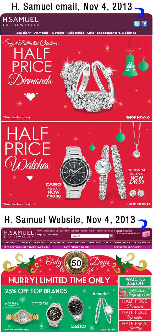 Holiday Season 2013 Email Marketing Review 2167-864-h-samuel-email
