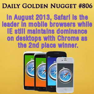 Safari is the Mobile Browser Winner, with Android in Far Second 228-daily-golden-nugget-806