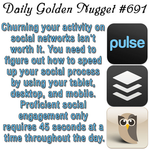 Explanation of a Social Media Time Saving Process 2997-daily-golden-nugget-691