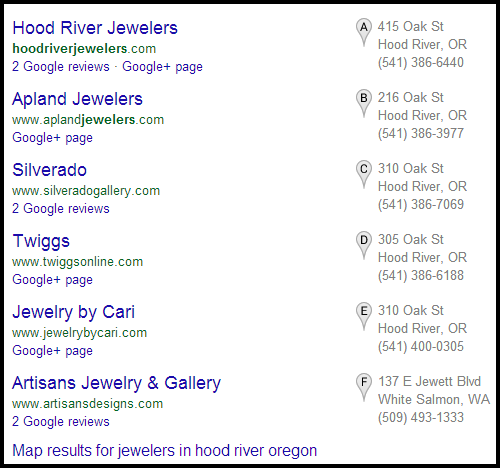 Hood River Jewelers Website Review 311-1050-serp