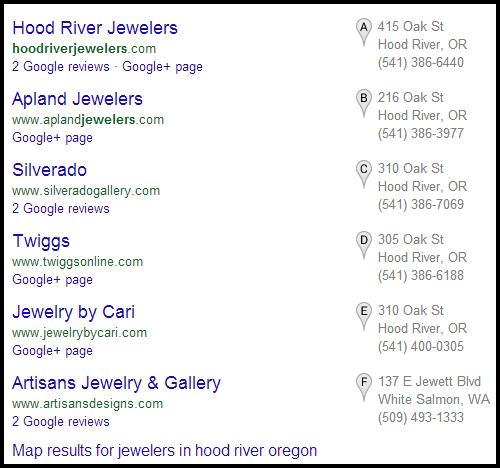 Hood River Jewelers Website Review 311-1050-serp