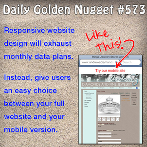 The Debate Over Responsive Websites or Mobile Websites Daily-Golden-Nugget-573