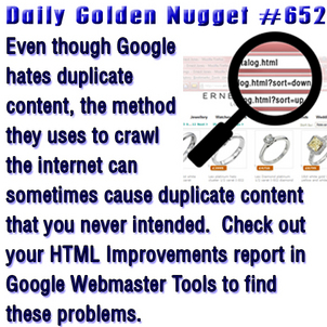 Protecting Yourself from Googlebot Created Duplicate Content 3387-daily-golden-nugget-652
