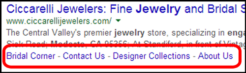Ciccarelli Jewelers SERP and Website Review 3695-950-serp-2