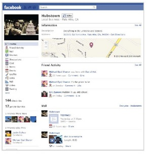 Checking-in on Facebook Places Facebook-Business-Place-Page