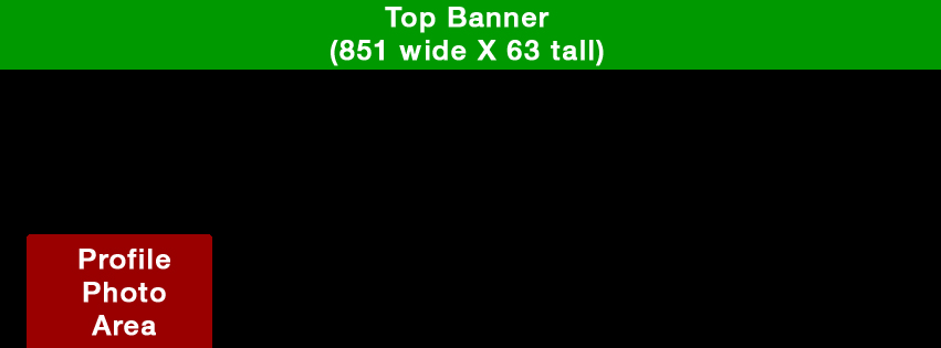 Top Banner image template for Facebook 20% cover photo limit