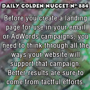 How to Create a Landing Page to Support a Marketing Campaign 4516-daily-golden-nugget-884