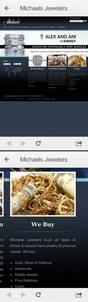 Michaels Jewelers website as seen on smartphones