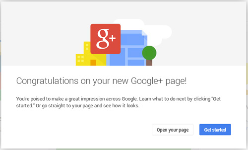 How-To Create a New Google+ Page for Non-Local Businesses 4921-961-congrats