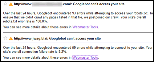 Understanding Uptime Availability and How Google Reports It 519-1066-Googlebot-cant-access-your-site-message1