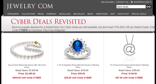 Email Analysis of a Large e-Tail Jeweler 5445-883-webpage-cyber-deals