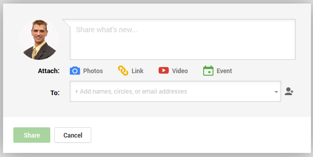 Google Plus Post Sharing Procedure 6086-911-google-plus-share-box2