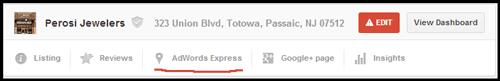 Setting up Google AdWords Express 610-1002-perosi-listing