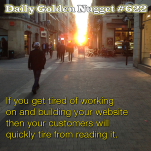Building your website with creative content should never end. 6276-daily-golden-nugget-622