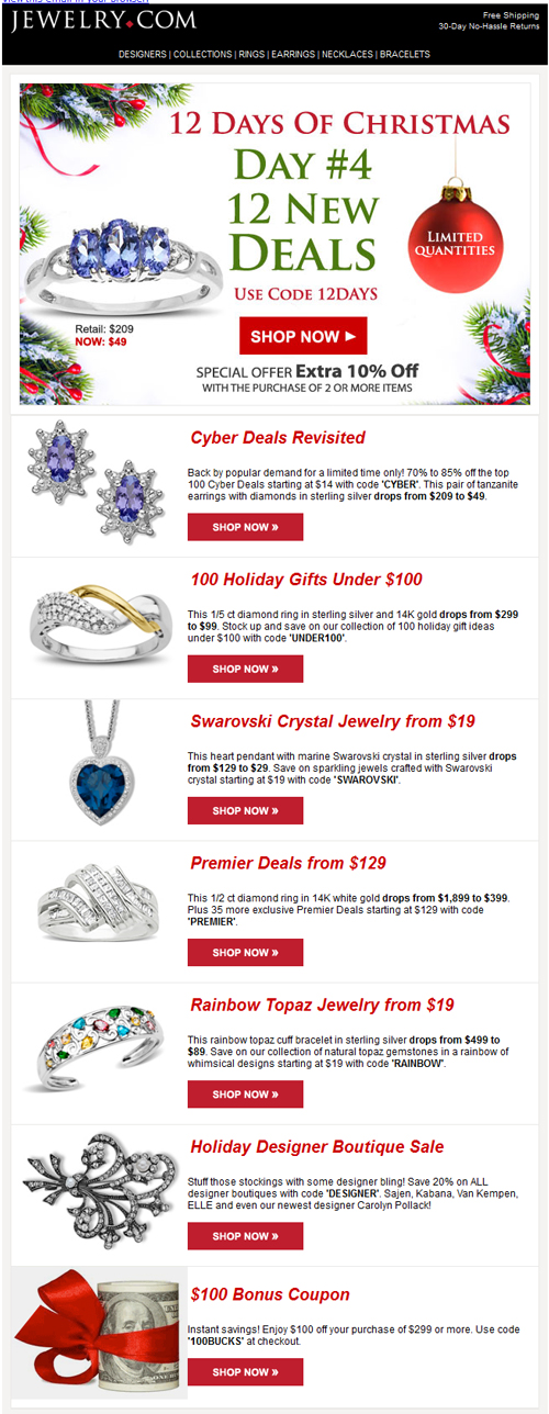 Email Analysis of a Large e-Tail Jeweler 6478-883-jewelrycom-email