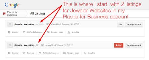 How-To Delete a Duplicate Google Places for Business 6556-992-step1
