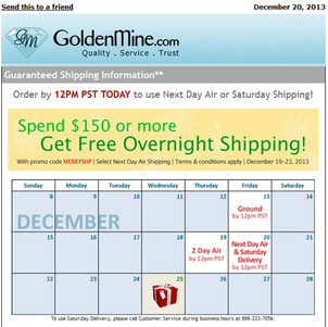 Final Holiday 2013 Email Review for Retail Jewelers 6562-894-gold-mine-email