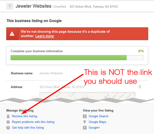 How-To Delete a Duplicate Google Places for Business 6679-992-step1a