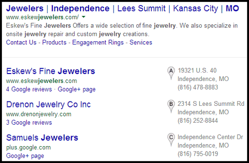 Eskews Fine Jewelers Website Review 6946-1030-serp