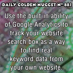 More Keyword Research On Your Own Website 706-daily-golden-nugget-881