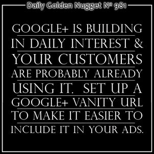 Google+ Vanity URLs for Business Pages 7420-daily-golden-nugget-981