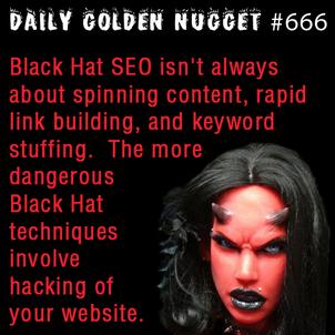 Devilish Black Hat Spamming SEO 7645-daily-golden-nugget-666
