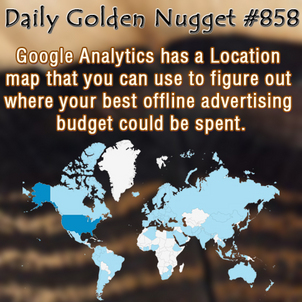 Using Google Analytics Location Maps To Analyze Marketing Methods 7673-daily-golden-nugget-858