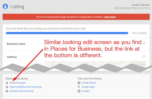 How-To Delete a Duplicate Google Places for Business 7978-992-step3