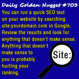 6 Quick SEO Problems You Can Discover On Your Own 8199-daily-golden-nugget-703