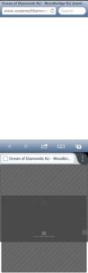 Oceans of Diamonds websites as seen on smartphones