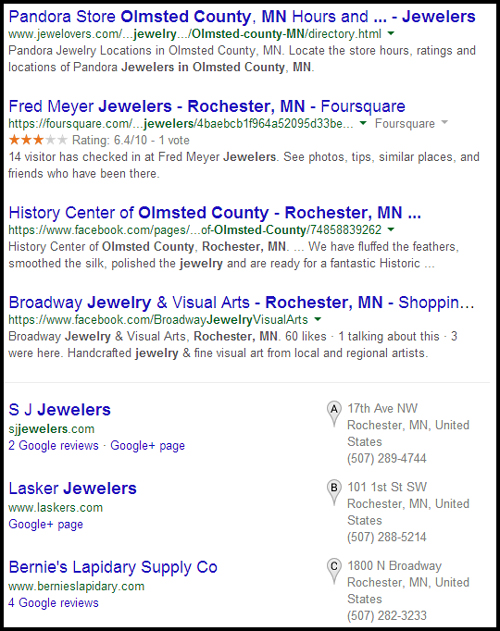 SJ Jewelers Website Review 851-980-serp