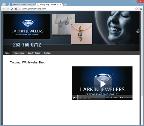 SERP Review of Tacoma Washington 8628-945-larkin-jewelers-website