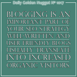 15 SEO and SEM Related Tidbits You Should Know About Blogging 8726-daily-golden-nugget-1017