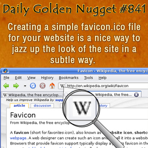 Simple method of creating and using favicon.ico on your website 9126-daily-golden-nugget-841