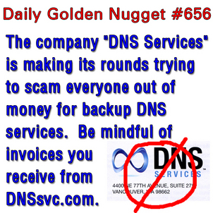 DNS Services Invoices are a Scam