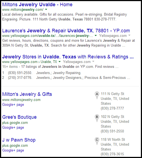 Miltons Jewelry & Gifts Website Review... 9214-990-serp