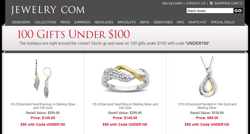 Email Analysis of a Large e-Tail Jeweler 9438-883-webpage-under-100