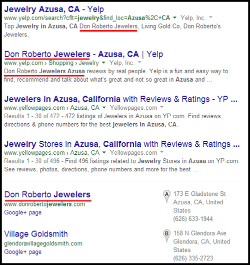 Don Roberto Jewelers Website Review 955-1015-serp-results
