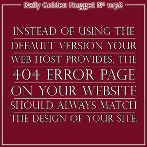Using 404 Error Pages Effectively 956-daily-golden-nugget-1038