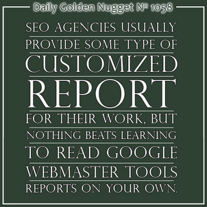 Reading Your SEO Reports: Google Webmaster Tools 9581-daily-golden-nugget-1058