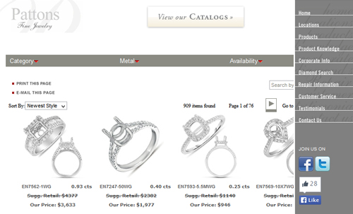 Pattons Fine Jewelry Website Review 9583-899-pattons-fine-jewelry-catalog