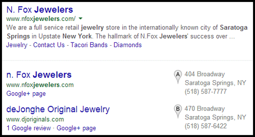 N. Fox Jewelers Website Review 996-1020-serp